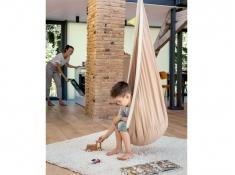 Fotel hamakowy dla dzieci JOKI z zestawem montażowym, JCD70 - cappuccino(61)