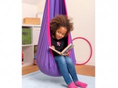 Fotel hamakowy dla dzieci JOKI z zestawem montażowym, JCD70 - fuksja(77)