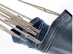Jednoosobowy hamak - duży wybór kolorów, KOCON - jeans(25370)