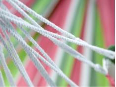 Jednoosobowy hamak - duży wybór kolorów, KOCON - różowo-zielony(217117)