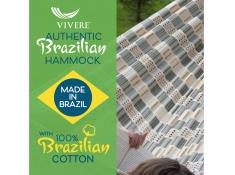 Brazilian Hamak dwuosobowy, BRAZ8 - beżowo-brązowo-czarny(11)