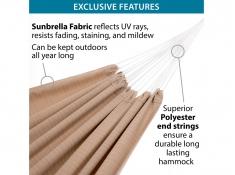 Dwuosobowy hamak Sunbrella, BZSUN - piaskowy(11)