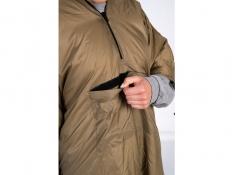 2 w 1: Podkład termiczny do hamaków połączony z poncho, Underquilt-Poncho - Brązowy(brązowy)