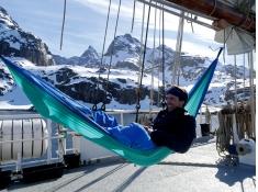 Hamak turystyczny, Adventure Hammock - Niebieski(Ice-blue)