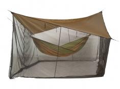 Zadaszenie do hamaka z moskitierą, Moskito Tarp - Brązowy(Brązowy)