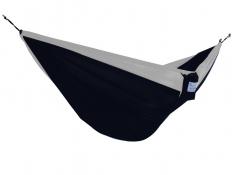 Hamak turystyczny dwuosobowy Parachute, PAR2 - szaro-czarny(50)