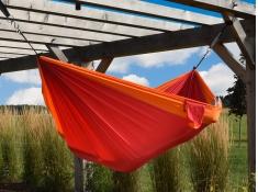 Hamak turystyczny dwuosobowy Parachute, PAR2 - czerwono-pomarańczowy(56)
