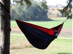 Hamak turystyczny dwuosobowy Parachute, PAR2 - czerwono-niebieski(5)