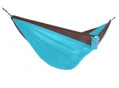 Hamak turystyczny dwuosobowy Parachute, PAR2 - brązowo-niebieski(07)