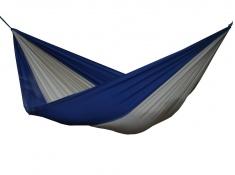 Hamak turystyczny dwuosobowy Parachute, PAR2 - niebiesko-brązowy(4)
