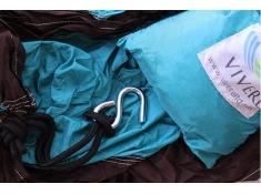 Hamak turystyczny Parachute, PAR1 - brązowo-niebieski(7)