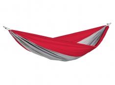 Hamak turystyczny, Silk traveller XXL - czerwono-szary(Traveller)