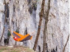 Hamak turystyczny, Silk traveller - Pomarańczowy(Techno)