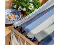 Hamak z drążkiem Alisio, ALR16 - niebiesko-biały(13)