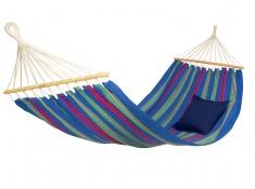 Hamak z drążkiem, Aruba Amazonas - Niebieski(Juniper)