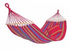 Hamak z drążkiem, Aruba Amazonas - Czerwony(Cayenna)