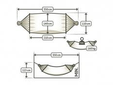 Hamak z drążkiem Colada R140, COR14