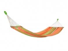 Hamak z drążkiem, GRAPHIK - pomarańczowo-zielony(17401)