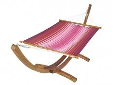 Hamak z drążkiem KOUPLE - szeroki wybór kolorystyczny, KOUPLE - czerwono-różowy(17193)