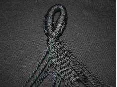 Hamak z drążkiem boho, HSM-T - czarny(10)