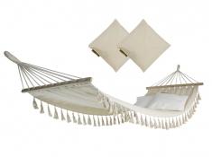 Hamak z drążkiem i poduszkami