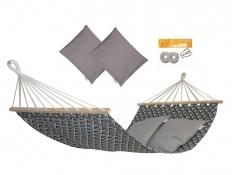 Hamak z drążkiem z poduszkami i zestawem montażowym, Zuni + HP -111 + H2_2 - Szary(111)