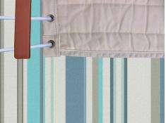 Dwuosobowy hamak z drążkiem Quilted Fabric, QFAB(1) - Niebieski / turkusowy(20)