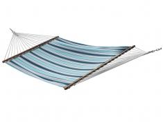 Pikowany hamak Sunbrella z drążkiem dwuosobowy, SUN2 - Niebieski(06)