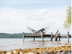 Hamak z drążkiem, Tonga - niebieski(Ocean)
