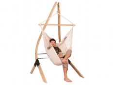 Zestaw hamakowy: fotel hamakowy Modesta ze stojakiem Vela, MOC14VEA13