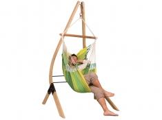 Zestaw hamakowy: fotel hamakowy Orquidea ze stojakiem Vela, ORC14VEA13
