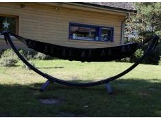 Zestaw hamakowy Stojak ogrodowy Grenada Antracyt + Hamak boho, HT 10, Grenada Antracyt HT 10