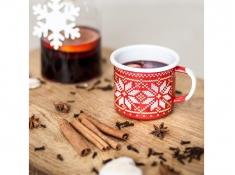 Kubek emaliowany, Christmas - Czerwony(czerwony)