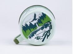 Kubek emaliowany, U.S.National Parks - zielony groszek(Olympic)