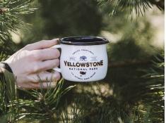 Kubek emaliowany, U.S.National Parks - ecru(Yellowstone)