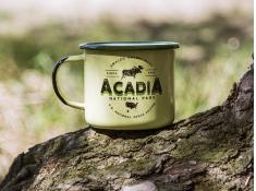 Kubek emaliowany, U.S.National Parks_b - Zielony(Acadia)