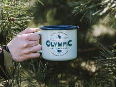 Kubek emaliowany, U.S.National Parks_b - zielony groszek(0Olympic)
