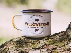 Kubek emaliowany, U.S.National Parks_b - ecru(Yellowstone)