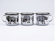 Kubek emaliowany, Rhino - szary(Grey)