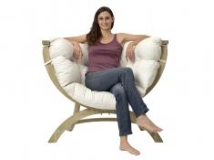 Fotel drewniany, Siena Uno natura - ecru(Natura)