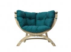 Fotel drewniany, Siena Uno natura - zielony(Green)