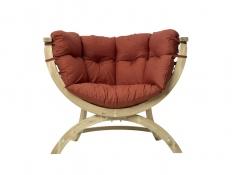 Fotel drewniany, Siena Uno terracotta - Czerwony(Terracotta)
