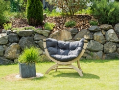 Fotel drewniany, Siena Uno weatherproof - szaro-czarny(Anthracite)
