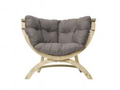 Fotel drewniany, Siena Uno weatherproof - Szary(Taupe)