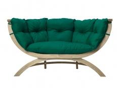 Fotel dwuosobowy drewniany, Siena Due weatherproof - Zielony(Verde)