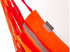 Leżak hamakowy Domingo L180, DOL18 - czerwono-pomarańczowy(28)
