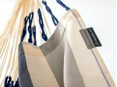 Leżak hamakowy Domingo L210, DOL21 - biało-niebieski(13)