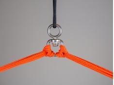 Leżak hamakowy Domingo L210, DOL21 - czerwono-pomarańczowy(28)