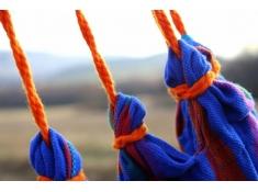 Leżak hamakowy, HCXL - niebieski / turkusowy(278)