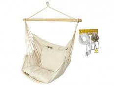 Leżak hamakowy HCXL z zestawem montażowym, zhcxl209-koala/fix/ch1 - ecru(209)